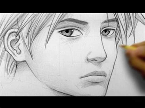kiss mark tutorial how to draw a quot realistic quot manga face line by line youtube