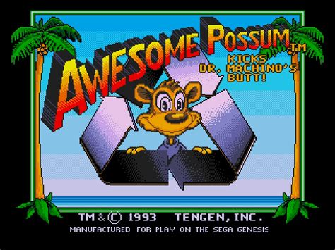 awesome possum genesis awesome possum usa rom