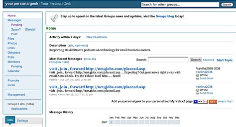 yahoo email group list how to use yahoo groups to manage your email lists