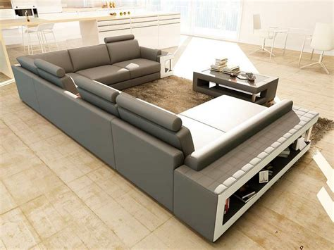 Sofas And Sectional Grey And White Leather Sectional Sofa With Coffee Table Vg080 Leather Sectionals