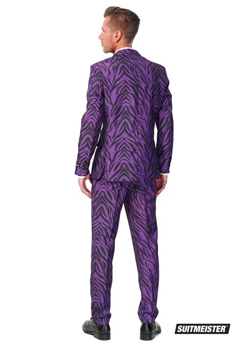 mens suitmeister basic pimp tiger suit costume