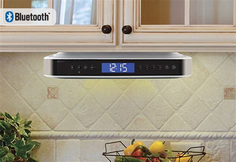 kitchen radio cabinet bluetooth undercabinet bluetooth kitchen speaker sharper image