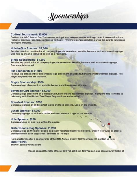 golf tournament brochure grc annual meeting golf tournament brochure