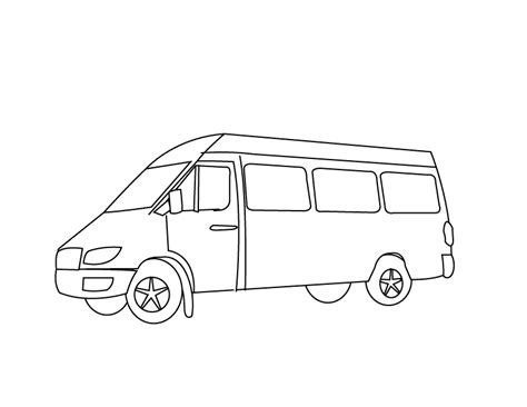 coloring page for van v van little angels fun house