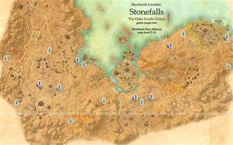 eso skyshard map stonefalls skyshards location map eso maps