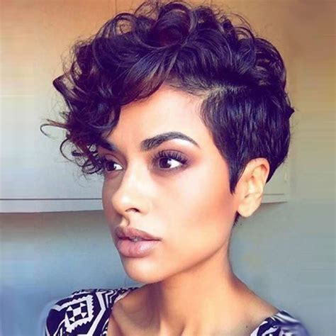 fake hair highlights for pixie cuts 26cm women short chic pixie cut curly natural black