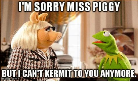 Ms Piggy Meme - itm sorry miss piggy buticantikermitto you anymore miss