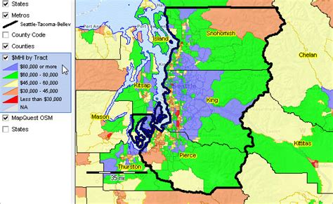 seattle map gis seattle tacoma bellevue wa msa situation outlook report