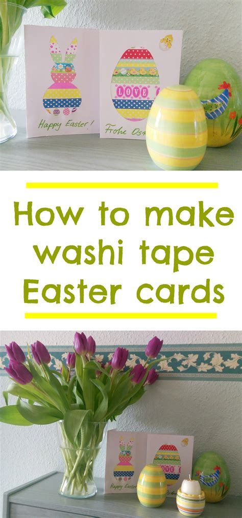 how to make easter cards washi easter cards with template mummy alarm
