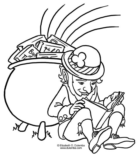 elvenpath coloring pages st patrick day leprechaun 09 big