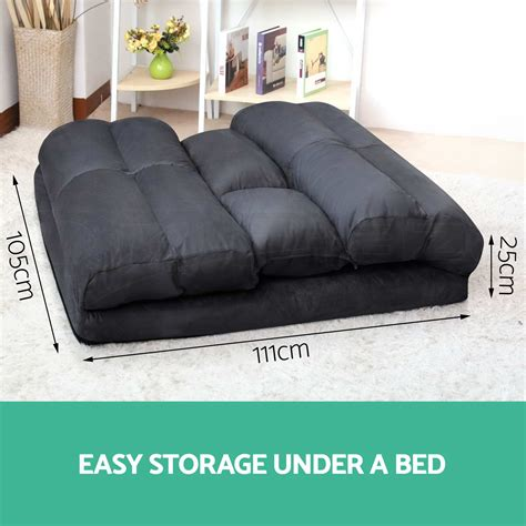 Floor Sofa Bed Lounge Sofa Bed Size Floor Recliner Folding Chaise Chair Adjustable Ebay
