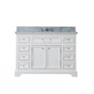 48 inch single sink bathroom vanity with carerra white