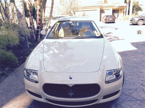 white maserati inside 2009 white maserati quattroporte with tan interior