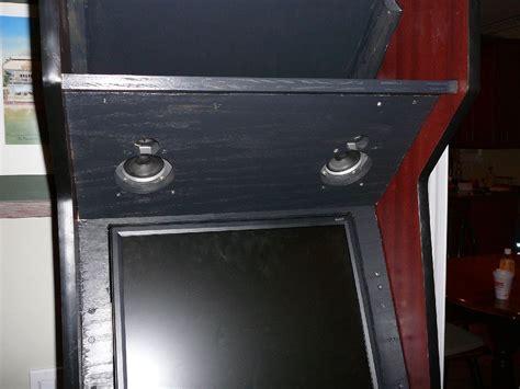 more progress reworked monitor mount speaker panel