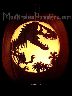 free printable pumpkin carving stencils jurassic park wild animals carving patterns