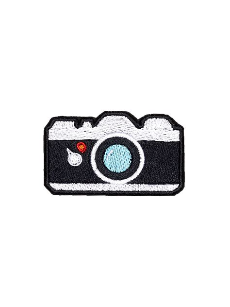 film camera emoji camera patch iron on embroidered patches applique embroidery