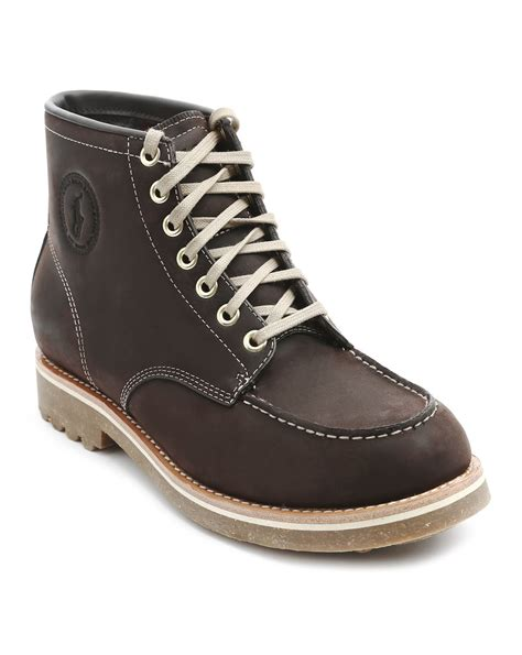 ralph leather boots polo ralph marvin brown leather boots in brown for