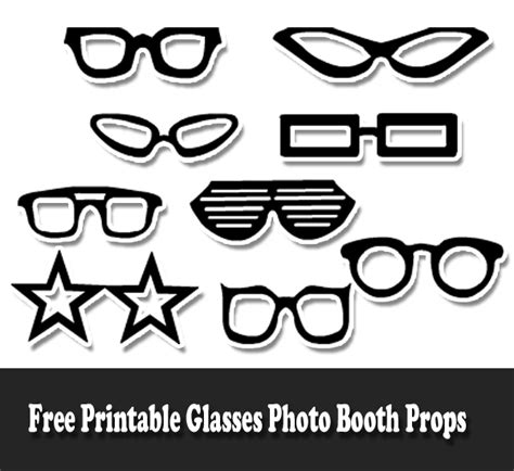 printable photo booth props black and white free printable glasses photo booth props