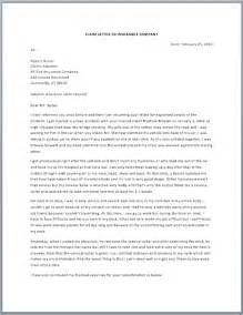 Business Letter Sample Claim Claim Letter To Demand Insurance Free Sample Letters
