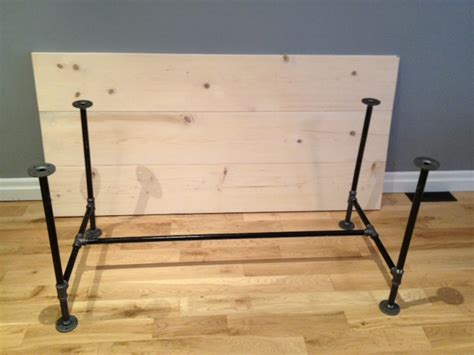 diy console table pipe legs diy pipe table legs perhaps for the tabletop to