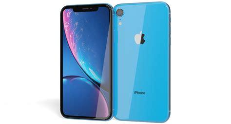 realistic apple iphone xr 3d model turbosquid 1327946