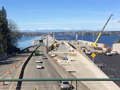 Seattle Mba Bridge by A On Deck World S Floating Bridge Opens
