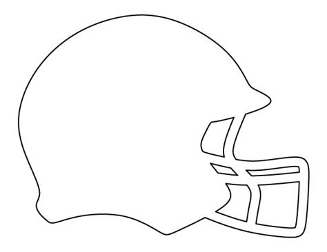 Football Helmet Outline Profile by Football Helmet Pattern Use The Printable Outline For Crafts Creating Stencils Scrapbooking