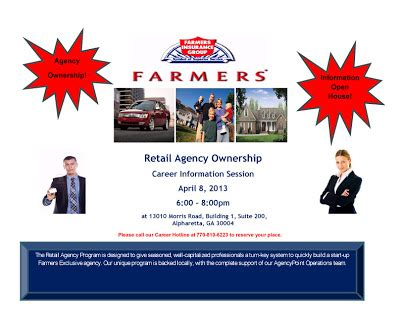 military house insurance farmers insurance group career information session alpharetta ga april 8 2013