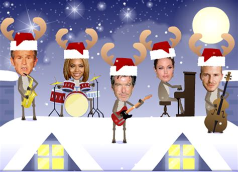 photoshop card templates place faces into santa ecards rockers