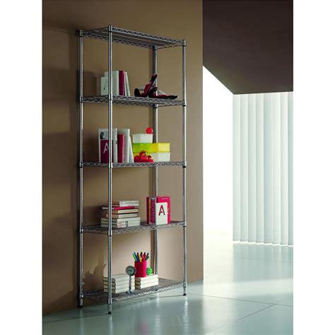 librerie in kit libreria in kit 5 ripiani archimede 35x90xh177 cm cromo