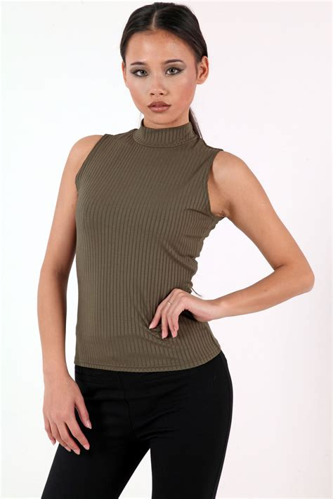 images of turtle neck ankara tops sleeveless turtle neck ribbed top from premier glam
