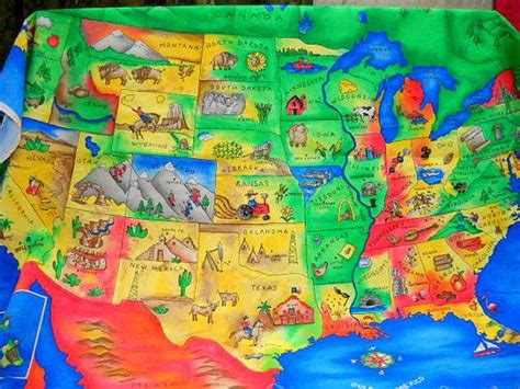 us map fabric united states map fabric us map panel sewing supplies
