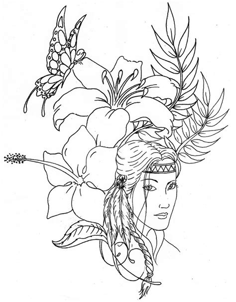coloring pages native americans az coloring pages