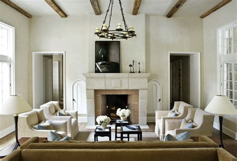 living room rustic wood beams design ideas