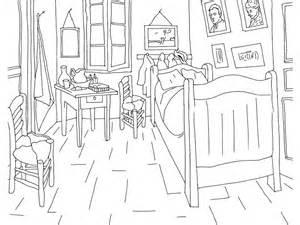 bedroom colora disegni da colorare di gogh fare di una mosca