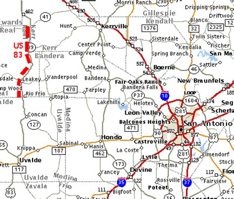 road map of central texas texasfreeway gt statewide gt photo gallery gt rural views gt west central texas gt us 83