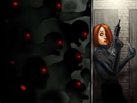 imagenes wallpapers de zombies photos zombie redhead girl assault rifle fear girls fantasy