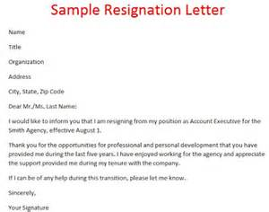 Resignation Letter Template Singapore by Sles Of Resignation Letters Sle Of Resignation Letter