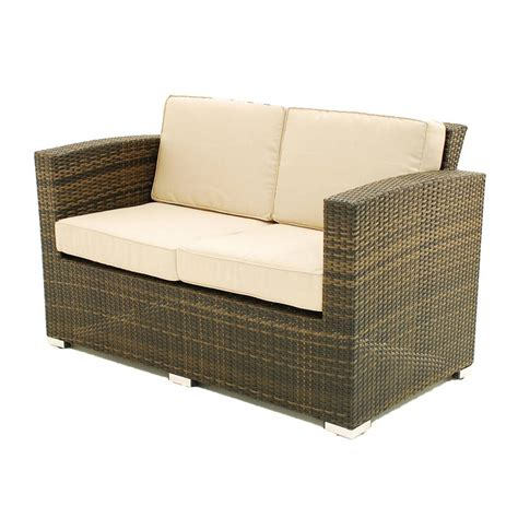rattan 2 seater sofa two seater sofa rattan garden set by out there exteriors