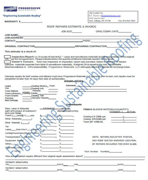 Roofing Certificate Template Warranty Certificate Template Word Sc 1 St S Le Templates Roof Repair Warranty Template