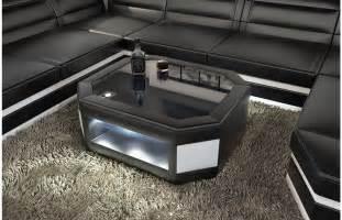 sofa tische sofas ledersofa design wohnzimmertisch prato mit led