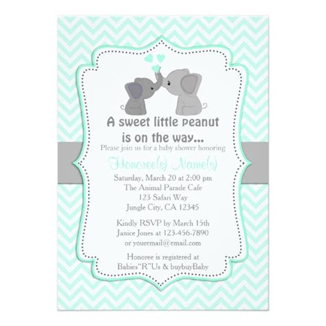 Boy Baby Shower Invitations by Boy Blue Elephant Baby Shower Invitations Chev 330