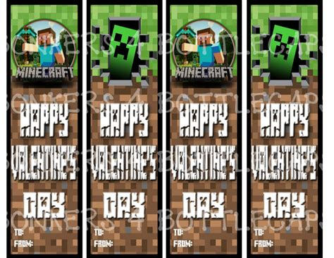 Minecraft Valentine S Day Cards - 8 best images of big printable minecraft bookmarks minecraft printable bookmarks