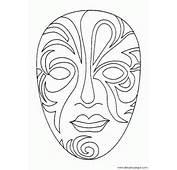 Mascaras Carnaval Venecia 004  Dibujos Y Juegos Para Pintar