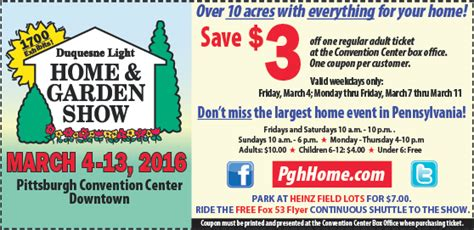 Home And Garden Show Hours by Dates Hours Order Tickets Pittsburgh Home And Garden