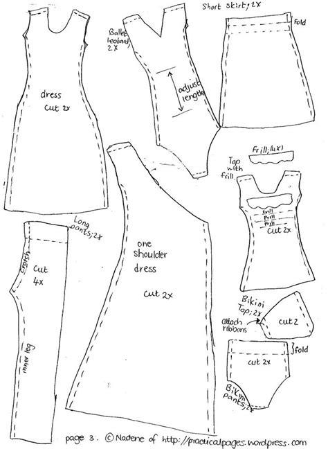 pattern clothes for barbie 17 best images about barbie on pinterest vests barbie