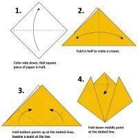 Easy Origami Tiger - tiger origami
