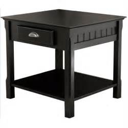 Black End Tables Solid Wood End Table Nightstand In Black 20124