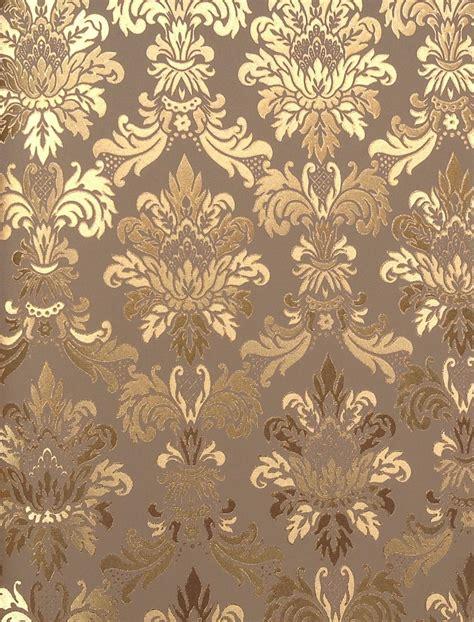 Wallpaper Dinding Luxury Classic Coklat Gold cy222 gold foil wall paper style vinyl wall paper luxury vinyl gold foil wallpapers