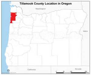 tillamook county location map oregon emapsworld